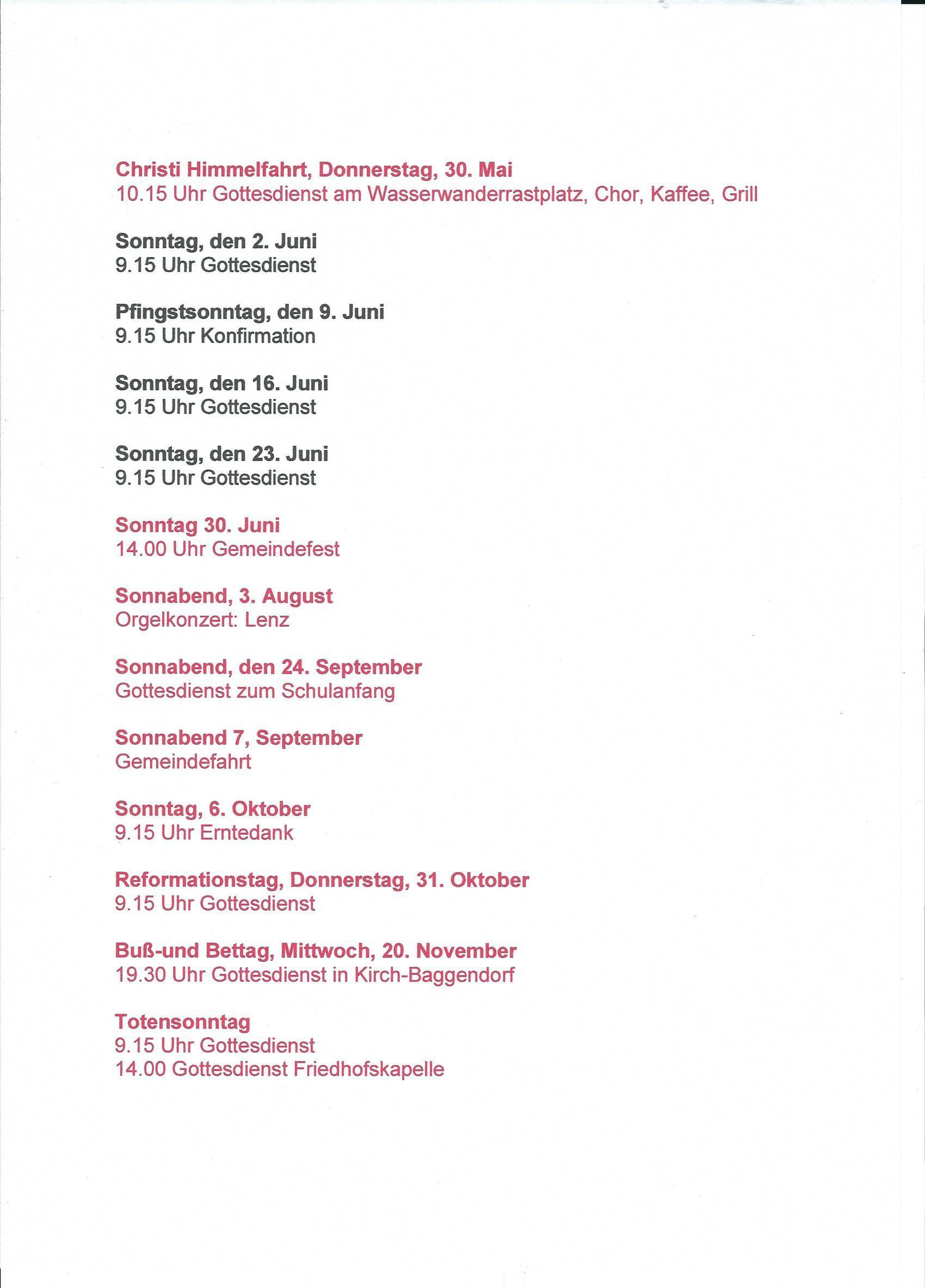 Kirchenkalender
